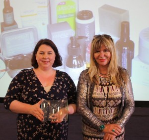 Fiona of Kinvara skincare with JLG