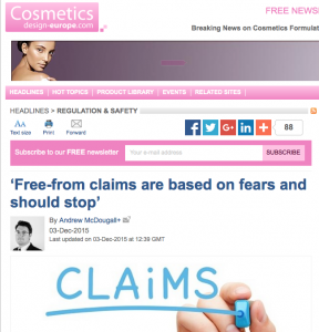 The article on Cosmetics Design Europe